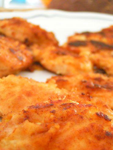 recette poulet pané et à la moutarde