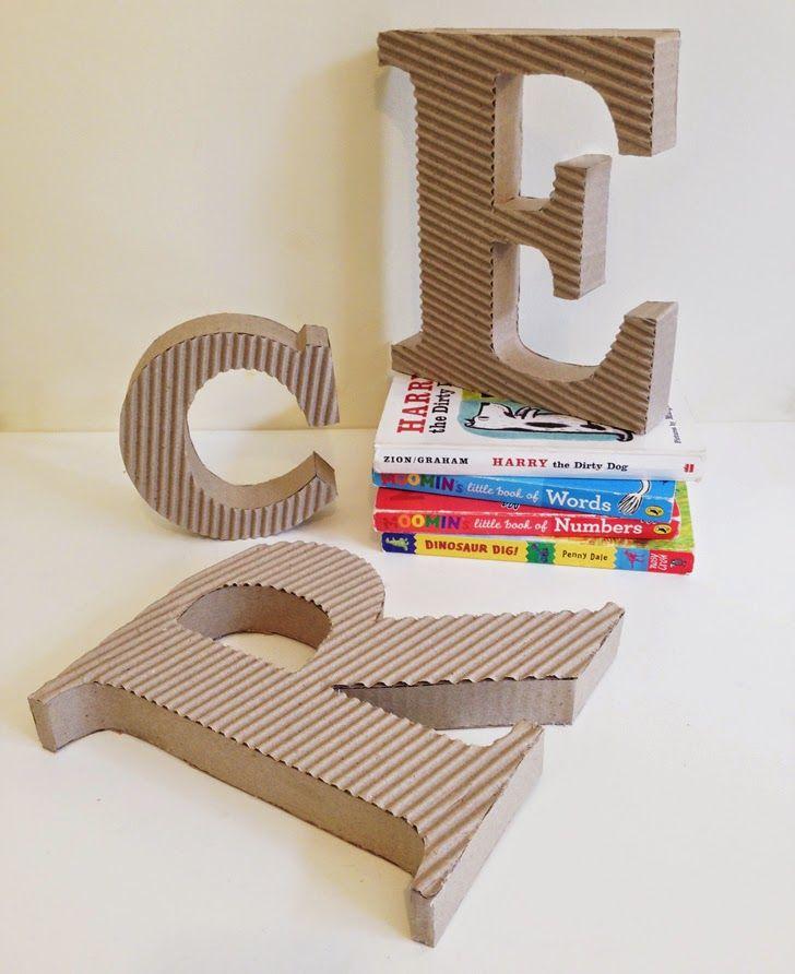 3D Cardboard Letters by Mumaroo