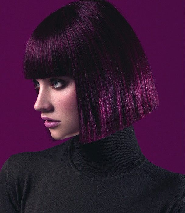 Short Black/Purple Hairstyles 2015 | ~ ' * Purple Passion ...