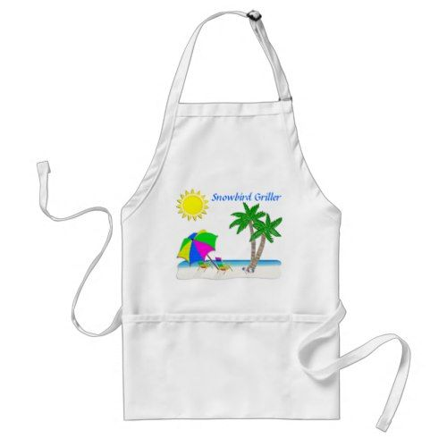 Tropical Aprons, Gifts for Snowbirds Adult Apron