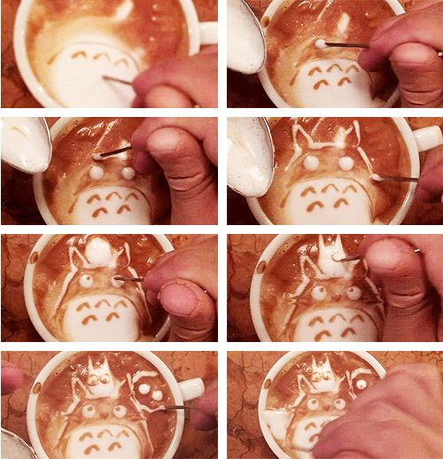 Totoro Latte Art