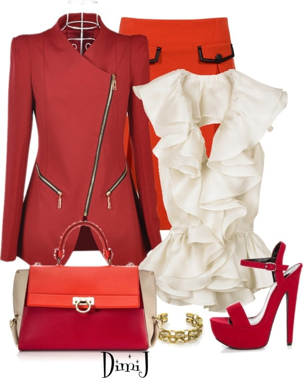 """""""Office Look - The Red Collection"""" by dimij on Polyvore"""