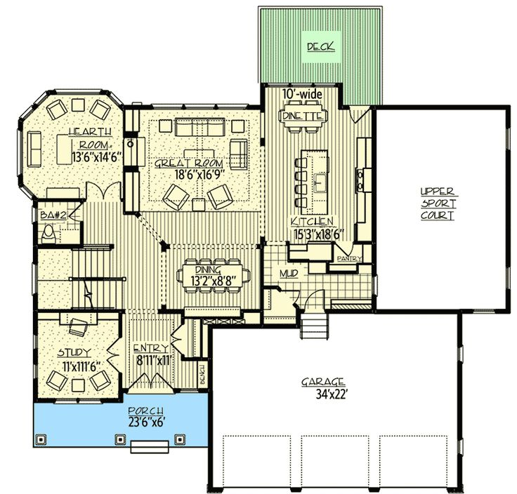 Home floor plans with indoor sport court for House plans with indoor sport court