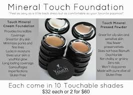 There are two types of #foundation available to you, Our #cream foundation or the pressed #powder...either choice provides #flawless coverage for perfect looking skin!