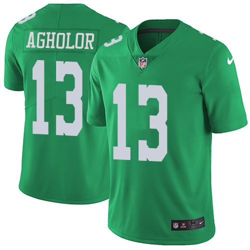 Youth Nike Philadelphia Eagles #13 Nelson Agholor Limited Green Rush NFL Jersey