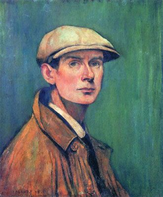 Self Portrait by L.S Lowry (1887-1976). Caps are still very Now.