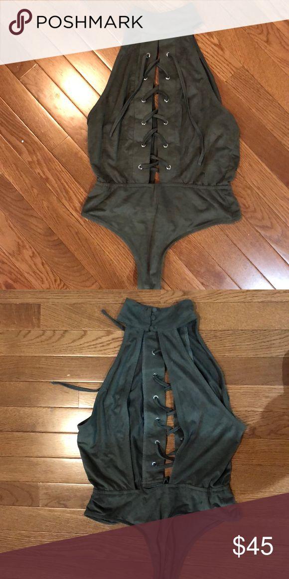 Velvet green bodysuit Velvet green Tobi bodysuit size S/M. Never worn Tobi Intimates & Sleepwear