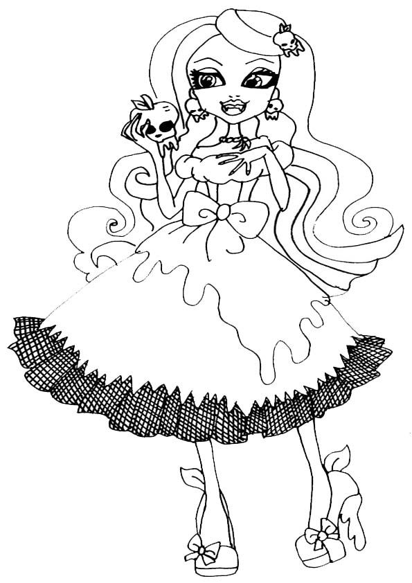monster high - Scary Monster High Coloring Pages