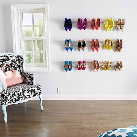 The 25 best wall mounted shoe rack ideas on pinterest j me wall diy wall mounted shoe rack in 6 steps easy and fun way to show off a high heel collection solutioingenieria Image collections
