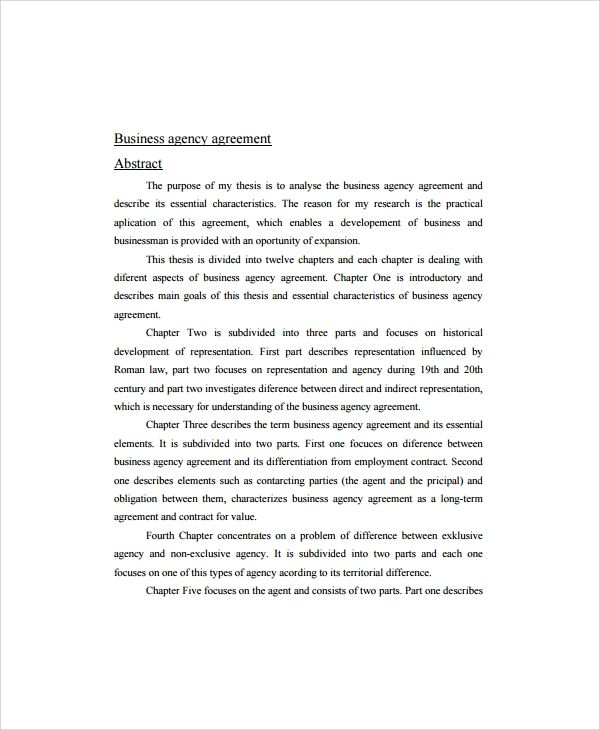 This Business Agency Agreement Template Significantly