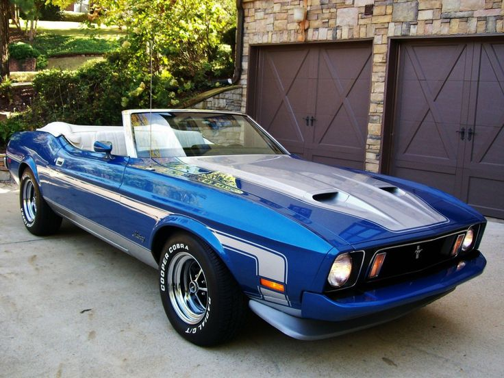 American Muscle Cars… 1973 Ford Mustang Convertible  Q-Code ,351 Cleveland 4 Barrel Cobra Jet