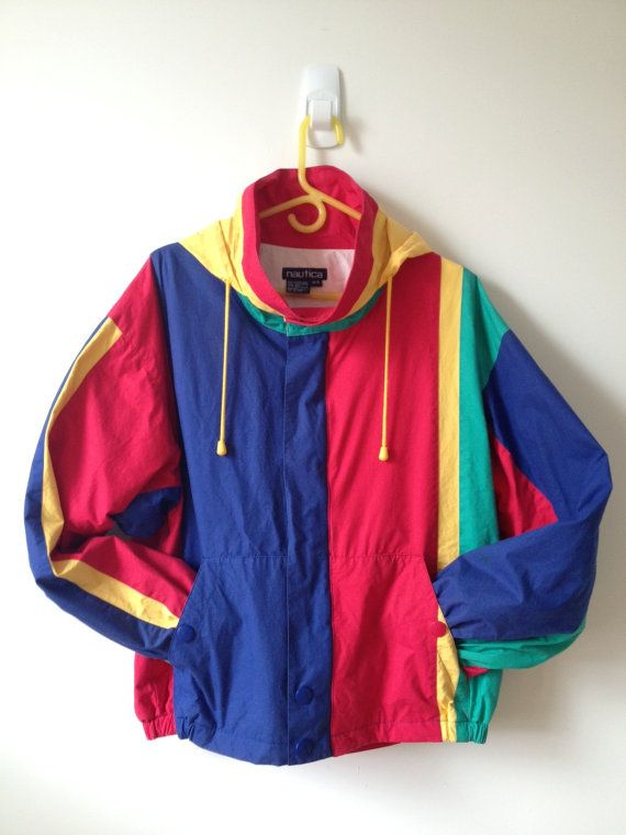 vintage 80s 90s nautica color block jacket with by vintspiration