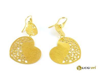 Orecchini Cuore Placcato oro in argento 925 Per maggiori informazioni WWW.LCGORI.COM