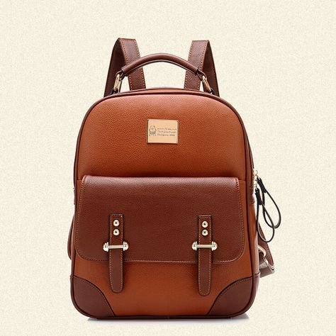 New British Style Vintage Leather Backpack only $39.99