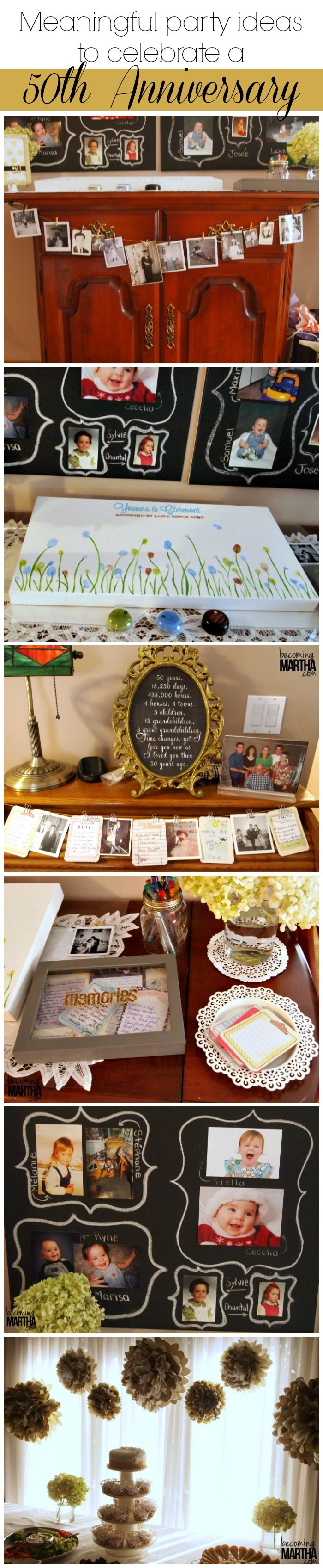 Meaningful Ideas for a 50th Anniversary Celebration - Becoming Martha