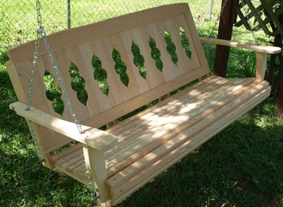 The 5 Ft Riverboat Porch Swing By CypressWoodSwings On Etsy