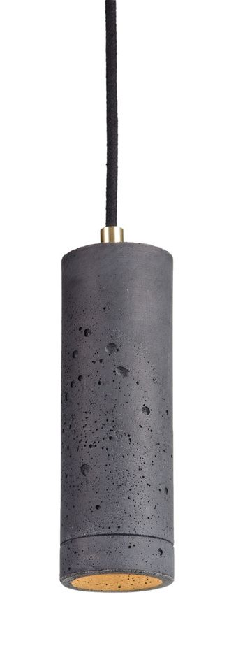 Kalla 21 LED concrete lamps - anthracite colour with brass elements - hand made in Poland #concrete #lighting #design #interior