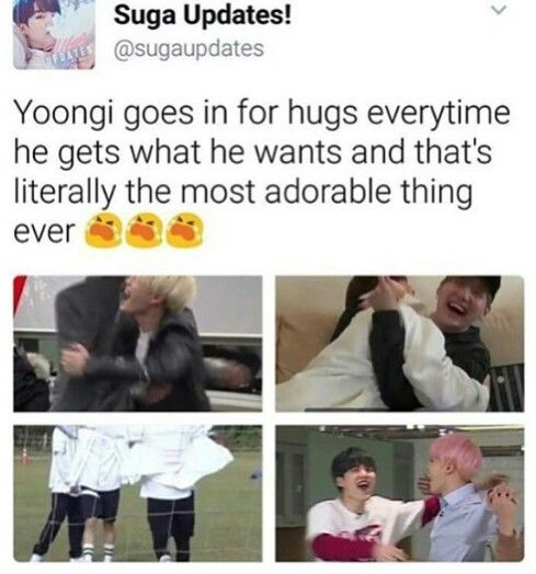 Except one of those is Jeongguk tackling Yoongi in his happiness