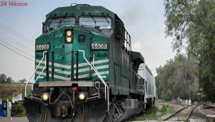 Con el tren en movimiento... ¡roban las llantas a autos nuevos!