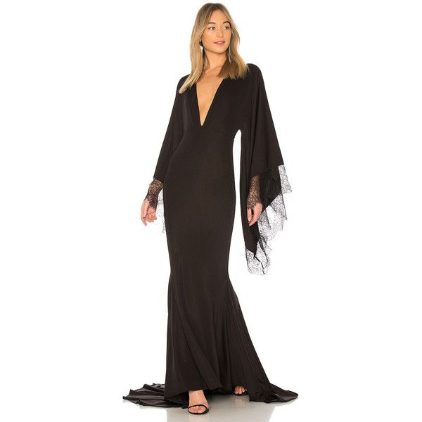Michael Costello x REVOLVE Stephen Gown ($255) ❤ liked on Polyvore featuring dresses, gowns, cut out dresses, sleeved dresses, long-sleeve cut-out dresses, sleeve evening dress and michael costello gowns