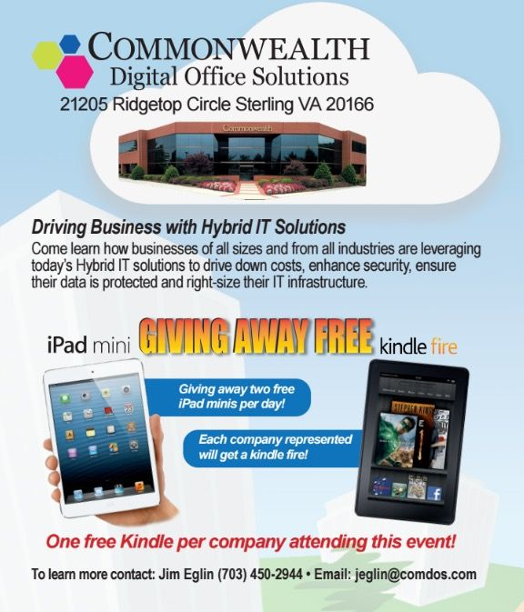 Commonwealth's September Office Technologies Show Highlights Hybrid IT