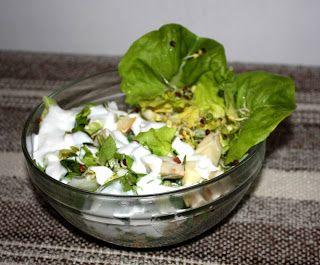 Székely Konyha: Zöld-fehér saláta joghurtos öntettel