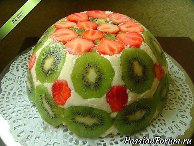 Фруктовый торт (без выпечки).
