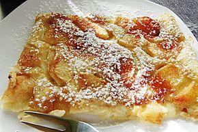 Apfelpfannkuchen aus dem Ofen