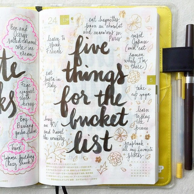 journal page idea... things for the bucket list