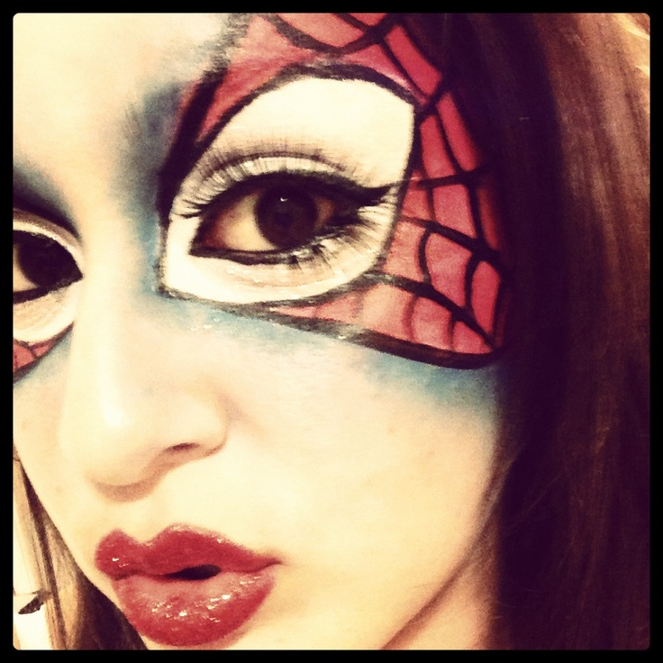 39 best spiderman-madness images on Pinterest | Spiderman makeup ...