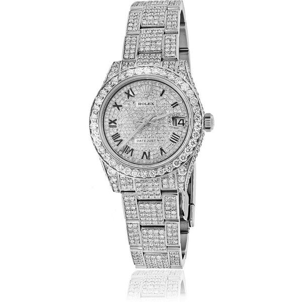 Pre-owned Rolex Watch ($22,000) ❤ liked on Polyvore featuring jewelry, watches, apparel & accessories, rolex watches, pre owned watches, rolex, pre owned jewelry and rolex wrist watch