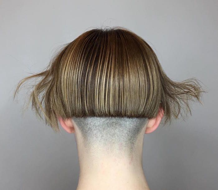 530 best micro bobs images on pinterest - Carre plongeant nuque rasee ...
