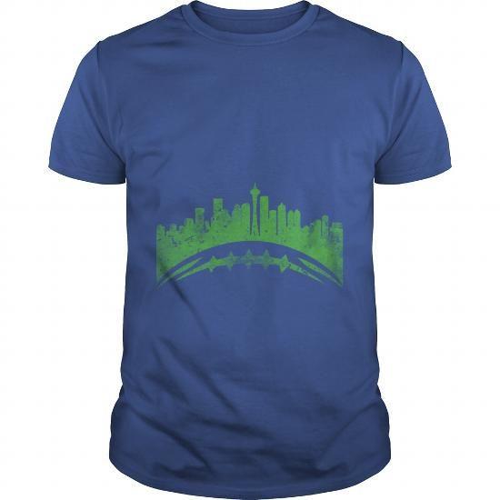 Seattle Skyline Football #tshirtfashion #fashion2018 #mentshirt #womenttshirt