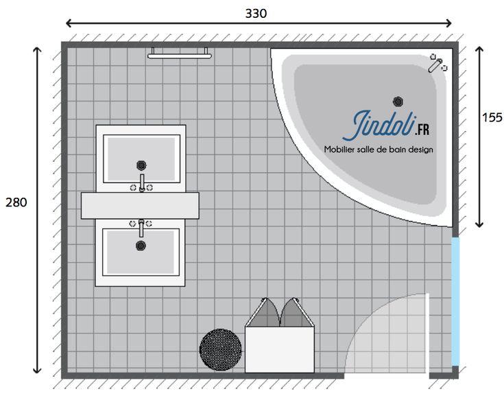 Exemple plan de salle de bain de 10m2 plan salle de bain - Exemple amenagement salle de bain ...