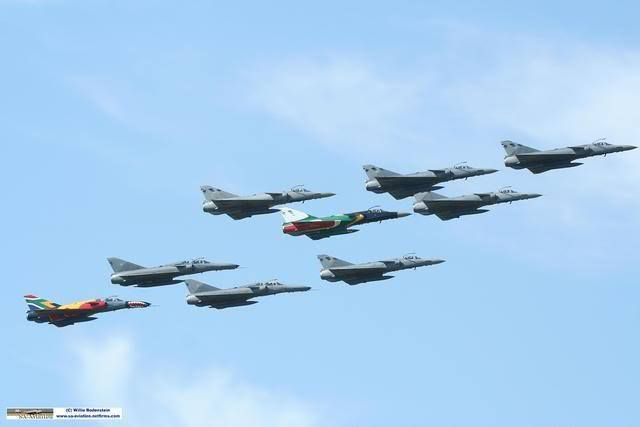 South African Air Force Cheetah Formation. SAAF 87th Birthday celebrations.