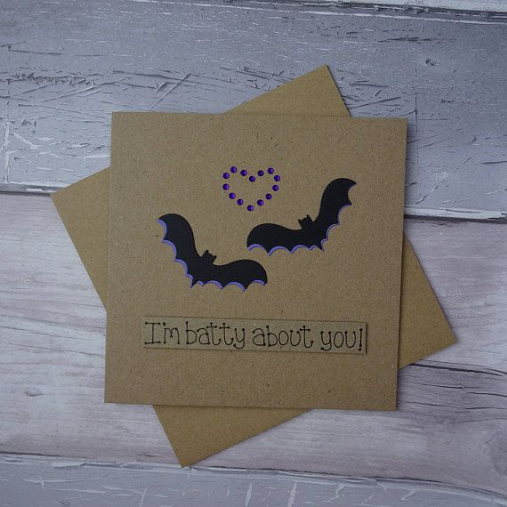 Anniversary bat card Funny pun Handmade card for husband