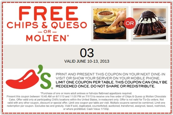 photograph relating to Chilis Printable Coupon named Chilis queso coupon : Great 19 tv set bargains