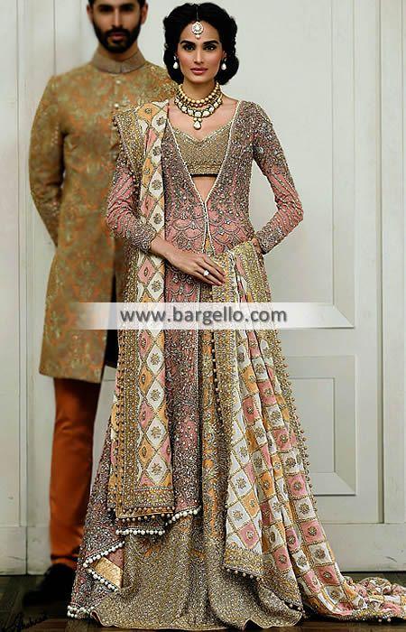 Pakistani Wedding Dresses Texas TX US Faraz Manan Imperial Collection D5591 Bridal Wear