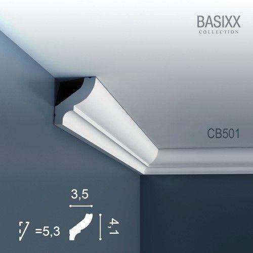 Corniche Moulure Cimaise Décoration de stuc Orac Decor CB501 BASIXX  Profil décoratif du mur | 2 m  – Bild 1