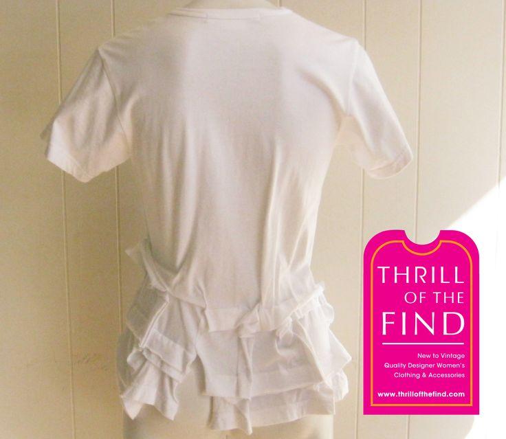 Comme des Garcons T-shirt $140 #commedesgarconstshirt #ruffletshirt #ruffledesignertshirt