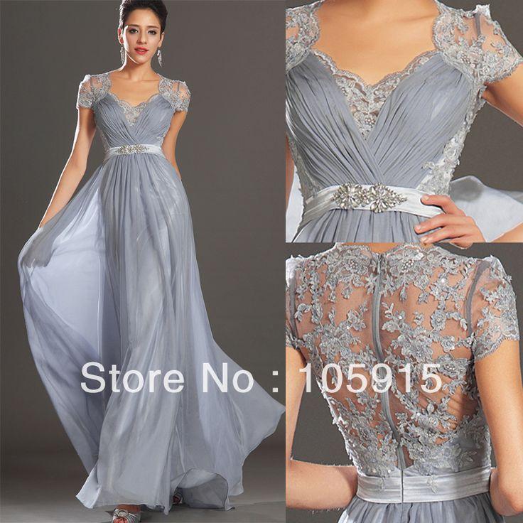 Wedding Dresses For Over 50 Uk: Hot New Elegant Silver Grey Ruched Floor Length Evening