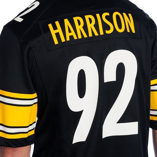 Picture of Pittsburgh Steelers Nike #92 James Harrison Replica Home Jersey