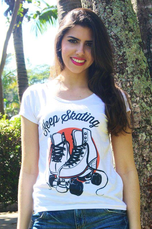 Camiseta | Keep skating coral R$35,00 Heti Skating t-shirt