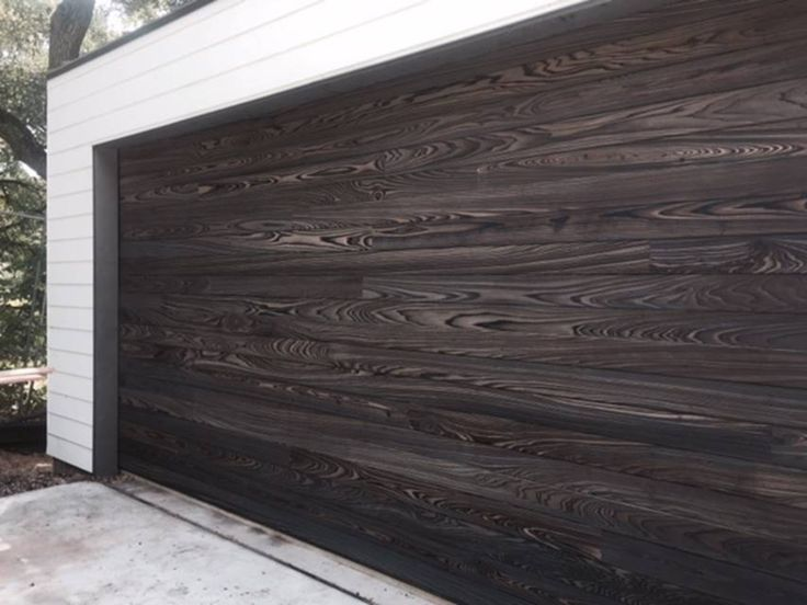Shou Sugi Ban Cypress  Shou Sugi Ban en 2019  Wood garage doors Timber garage y Wood siding