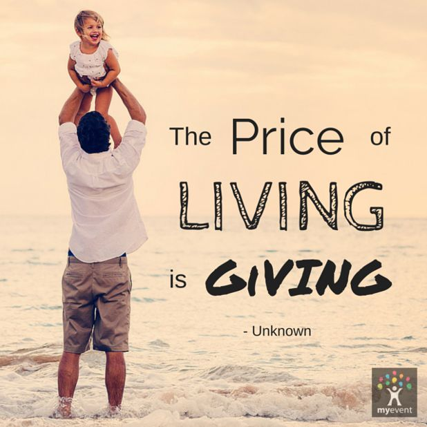 The Price of Living is Giving. #happyweekend #shareandgive