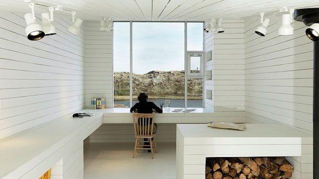 The Desk at the Edge of the World: Office, Interior Design, Bridge Studio, Studios, Saunders Architecture, Workspace, House