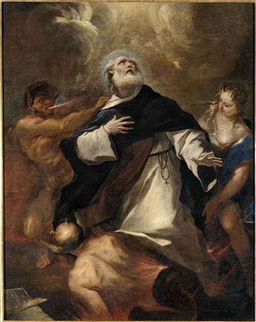 Luca Giordano  (1632-1705), Saint Dominic overcoming the Human Passions, ,  2.330 m. x 1.860 m. - Musée des Beaux-Arts, Nantes