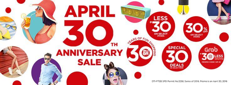 Anniversary sale SM 30 years
