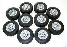 Lego Technic Räder 62.4x20S Truck 8285 Reifen Kran 8421 8436 42009 42043 wheels
