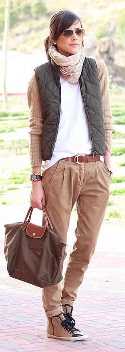 Bimba & Lola Green And Camel Sneakers by Be Trench